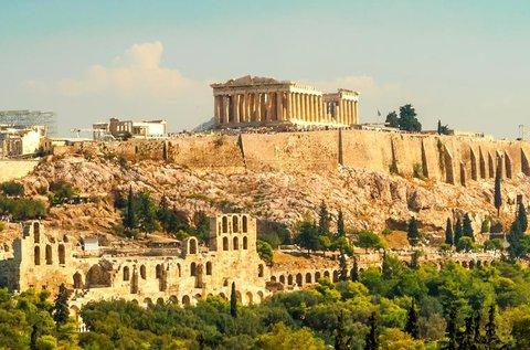 Történelmi séta Athénban repülővel