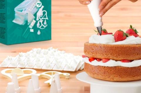 100 db-os Tasty American tortadekor készlet