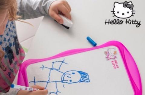 Hello Kitty 2 oldalas rajztábla tollal és törlővel