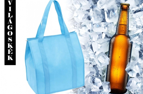 Bevásárlótáska formájú hűtőtáska 6 színben
