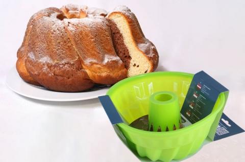 Rugalmas, törhetetlen szilikon kuglóf sütőforma