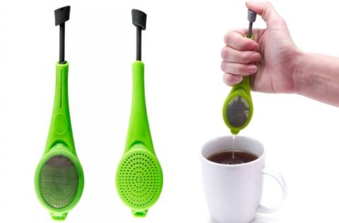 Tea áztató és préselő filteres és szálas teákhoz