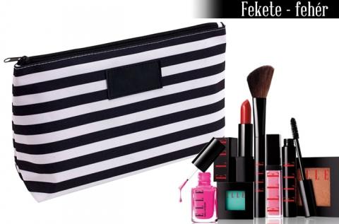 Kozmetikai táska masszív anyagból, 3 színben