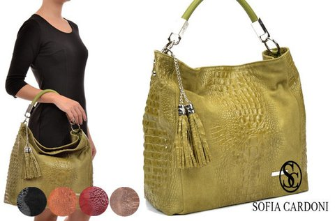 Sofia Cardoni Amazon női bőrtáska több színben