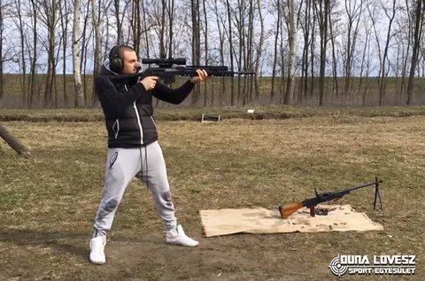 1 teljes tár ellövése KolArms típusú fegyverrel