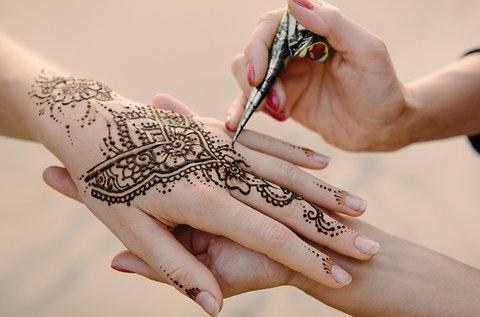 Alkalmi hennafestés 1 kézre