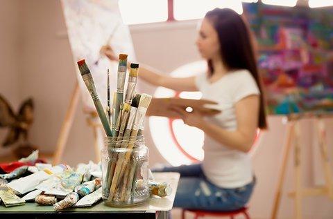 Nyitott műterem festészeti foglalkozás