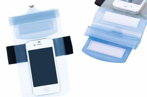 Vízálló mobiltelefon tok kék és fehér színben
