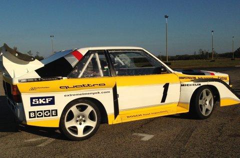 2 kör Audi S1 Rally car Proto autóvezetés