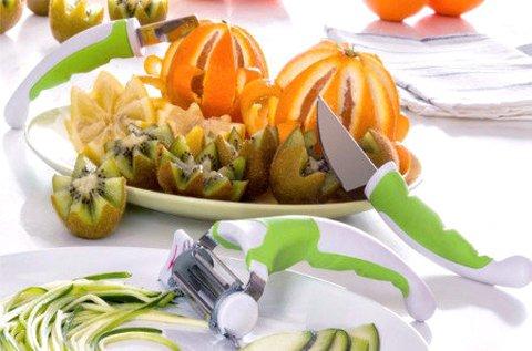 3 db-os Slice Art zöldség- és gyümölcsművész szett