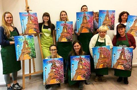 Kreatív élményfestő kurzus választható témákkal