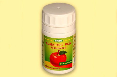 60 db Bano almaecetpor kapszula C-vitaminnal