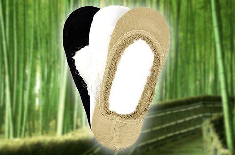 3 pár bambusz szálas, pamut női titokzokni
