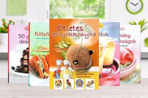 Ötletes szakács-, koktél- és desszertkönyvek