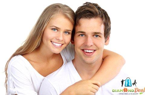 Ragyogó fogsor ultrahangos fogkő-eltávolítással