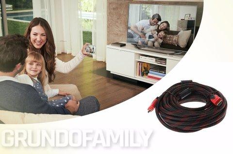 10 m-es HDMI kábel aranyozott csatlakozókkal