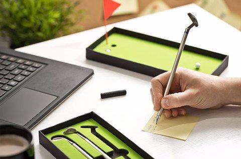 Szórakoztató mini golf toll szett