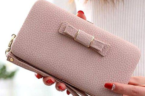 Elegáns női clutch táska csuklópánttal, több színben