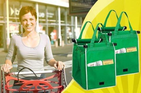 2 db Grab and Bag bevásárlótáska zöld színben