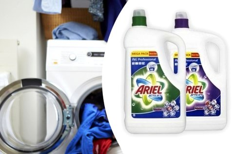 2x4,75 l-es Ariel mosógél színes vagy fehér ruhákhoz