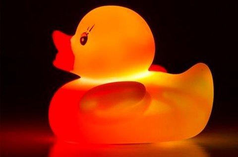 Disco Duck világító, LED-es gumikacsa