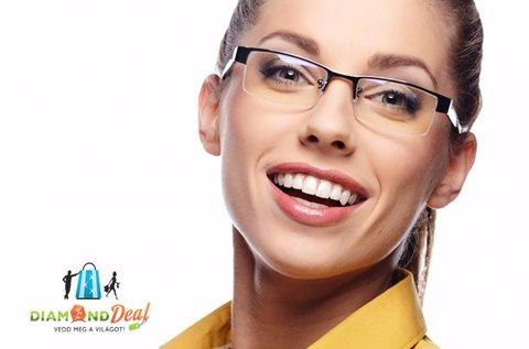 Komplett szemüveg kerettel, látásvizsgálattal