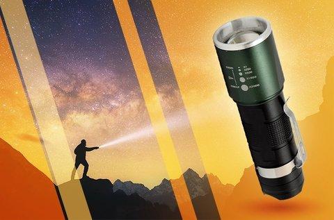 Super Zoom LED-es zseblámpa