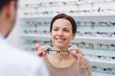 Vékonyított lencséjű komplett szemüveg
