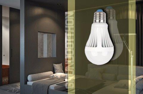 9 W-os LED fényforrás mozgásérzékelővel
