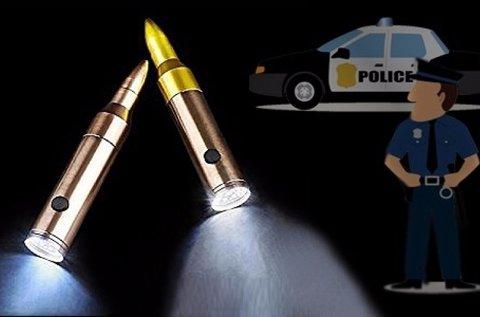 Töltény alakú Police zseblámpa