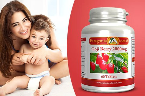 2000 mg-os goji bogyó étrend-kiegészítő kapszula