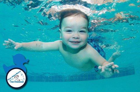 1 alkalom játékos úszásoktatás gyermekeddel