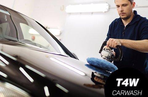Külső autómosás belső takarítással