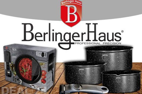 Exkluzív Berlinger Haus edényszett levehető nyéllel