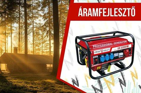 8500 W-os Swiss Kraft áramfejlesztő