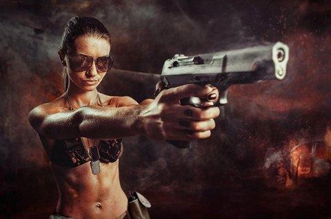 51 lövés 2 választható kis és nagy kaliberű fegyverrel