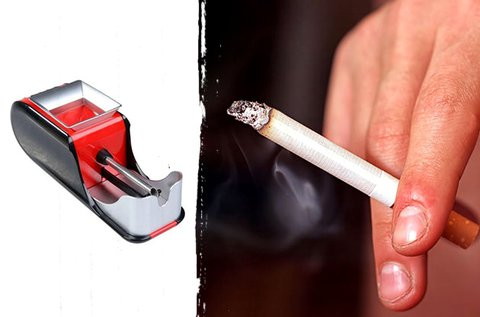 Elektromos cigarettatöltő piros és kék színben