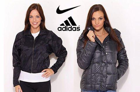 Adidas és Nike női kabát, pufi és széldzseki