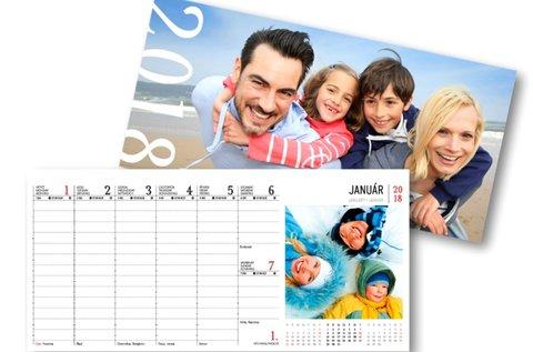54 lapos egyedi asztali naptár saját fotókkal