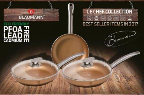 5 részes Blumann Le Chef Line serpenyő szett