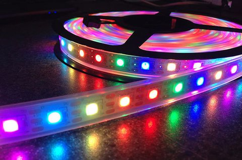 RGB 5 m-es LED szalagok