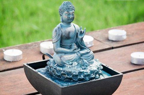 Homania Buddha dekoratív asztali szökőkút