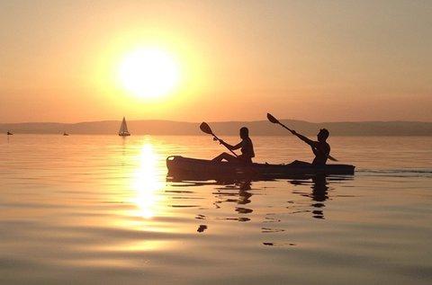 2 órás evezős kalandtúra a szántódi öbölben