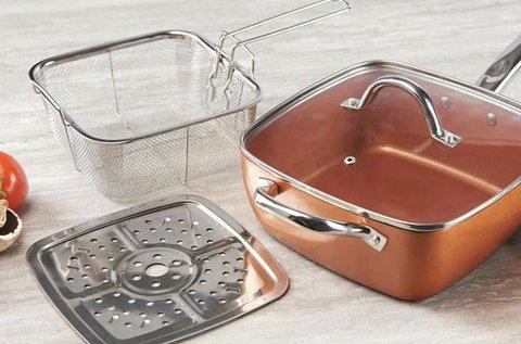 Royalty Line Copper pan 4 részes serpenyő szett