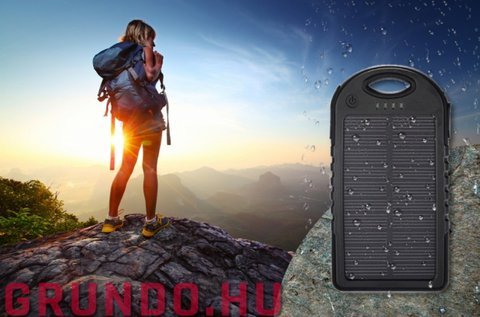 5000 mAh-s napelemes Outdoor Powerbank