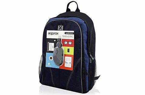 Laptop hátizsák fekete és kék színben