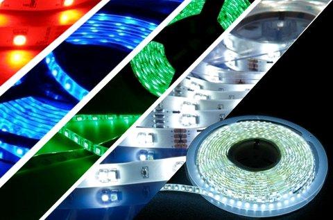5 m-es LED szalag öntapadós hátoldallal