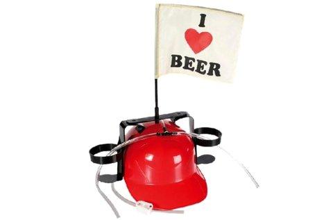Szeretem a sört feliratú sisak italtartóval