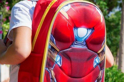 Ironman 3D-s iskolatáska 2 állítható pánttal