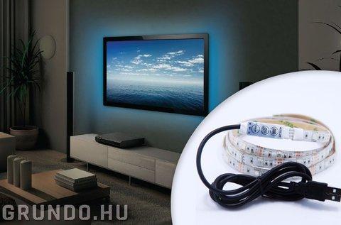 Színes, öntapadós LED szalag USB csatlakozóval